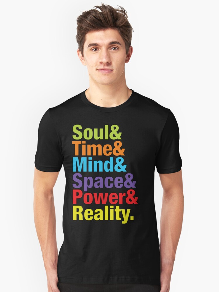 Infinity Gems - Soul& Time& Mind& Space& Power& Reality. Unisex T-Shirt Front