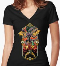 Epic Super Metroid Women's Fitted V-Neck T-Shirt