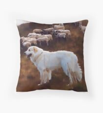 I Love My Great Pyrenees Throw Pillow