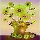 Flowers and Vase by IrisGelbart