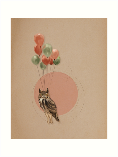 Owl on a Journey by Rebecca Flaum