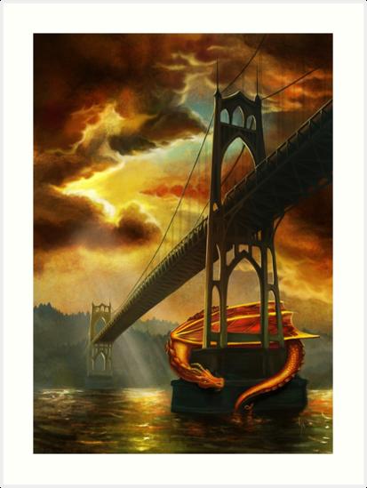 The Dragon of the St Johns Bridge by Rebecca Flaum