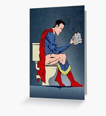 Superhero On Toilet Greeting Card