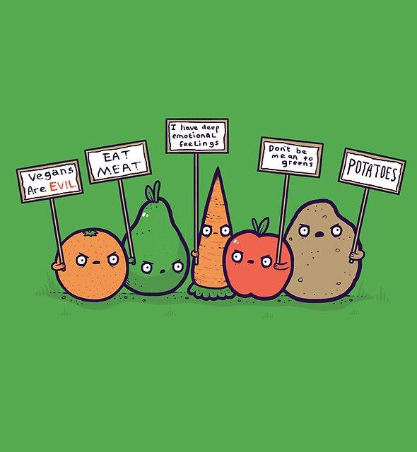 I hate vegans by Randyotter