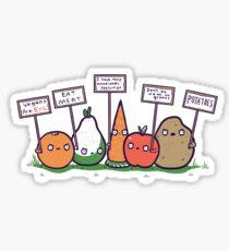 I hate vegans Sticker