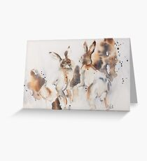 Mad March Hares Greeting Card