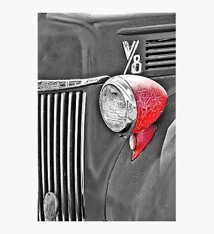1944 Ford Pickup - Headlight - SC Photographic Print