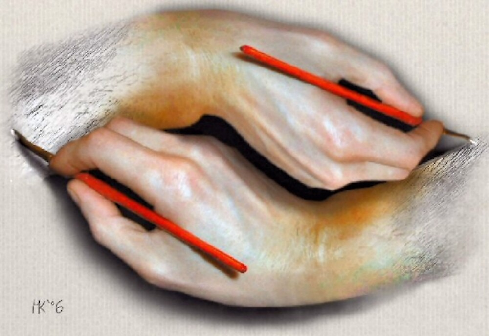 Painting Hands by Martin Kirkwood