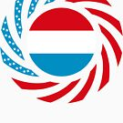 Luxembourgish American Multinational Patriot Flag Series by Carbon-Fibre Media