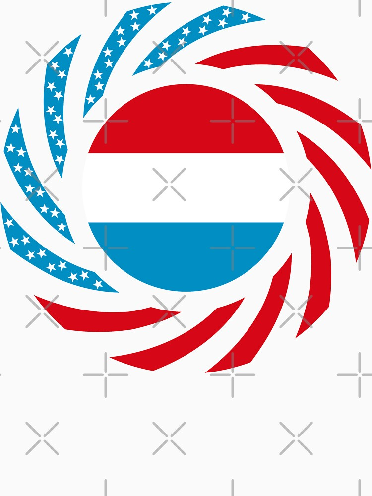 Luxembourgish American Multinational Patriot Flag Series by carbonfibreme