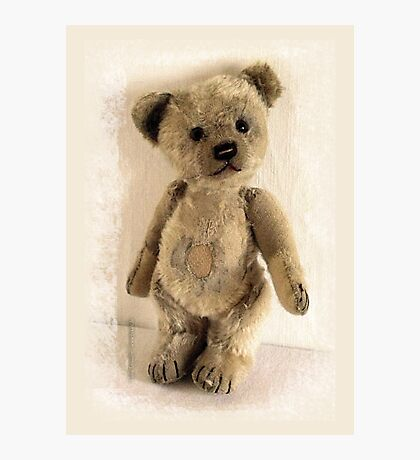 teddy bear retro Photographic Print