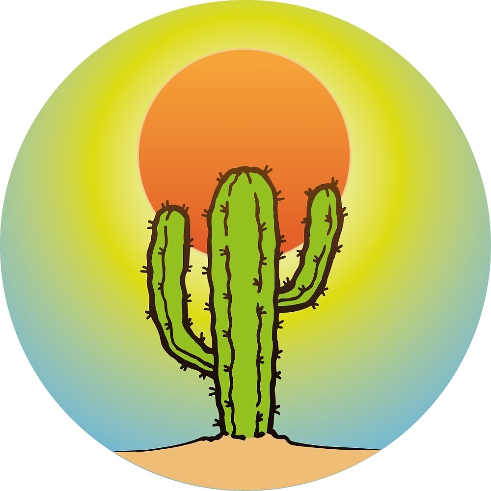 Cool Cactus In The Desert by ELARTIST