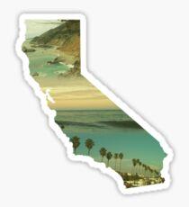 California Collage Sticker