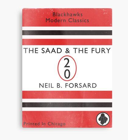 The Saad & The Fury Book Cover Metal Print