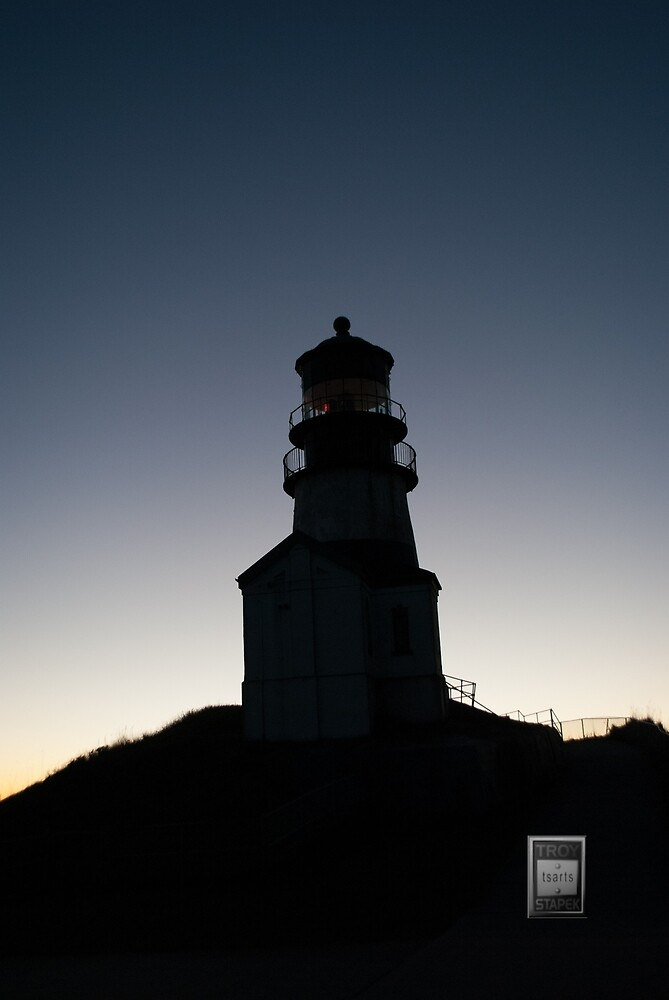 Cape Disappointment Lighthouse Shadow  by Troy Stapek