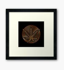 Cannabis Gold Framed Print