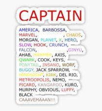 Captain... Sticker