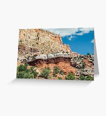 Colorful Cliffs at Capitol Reef Greeting Card
