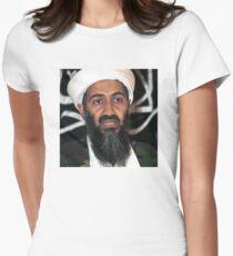 osama bun laden edgy shirt Womens Fitted T-Shirt