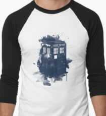 splatter tardis Men's Baseball ¾ T-Shirt
