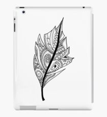 Zentangle Feather Balck and White Design iPad Case/Skin