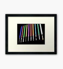 Lightsaber Framed Print