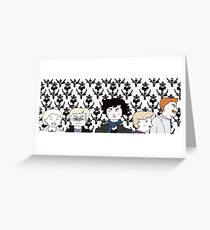 Mustaches at 221B Greeting Card