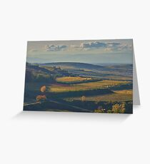 View across the Kaiserstuhl in Autumn Greeting Card