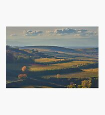 View across the Kaiserstuhl in Autumn Photographic Print