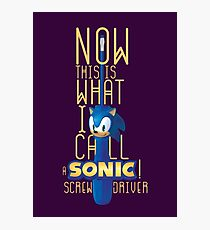 The True Sonic Screwdriver Photographic Print