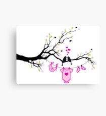 new baby girl, baby shower Canvas Print