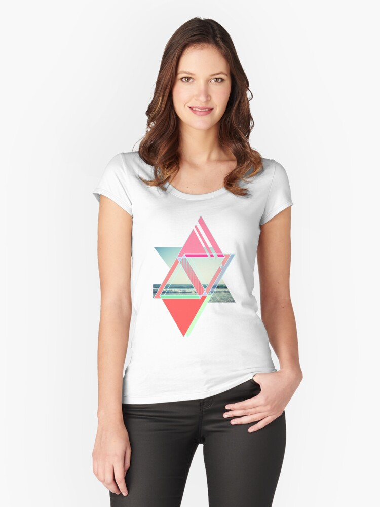 Beach  Women's Fitted Scoop T-Shirt Front