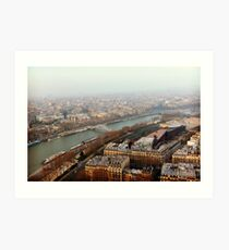 The Seine from 500ft Above Art Print