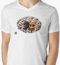 Black And Gold Mens V-Neck T-Shirt