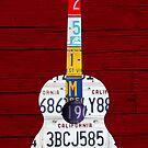 License Plate Art Guitar by designturnpike