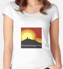 Glastonbury Tor Women's Fitted Scoop T-Shirt