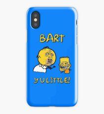 Y U Little Homer + Bart Simpson Mashup Meme iPhone Case/Skin