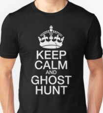 Keep Calm and Ghost Hunt Slim Fit T-Shirt