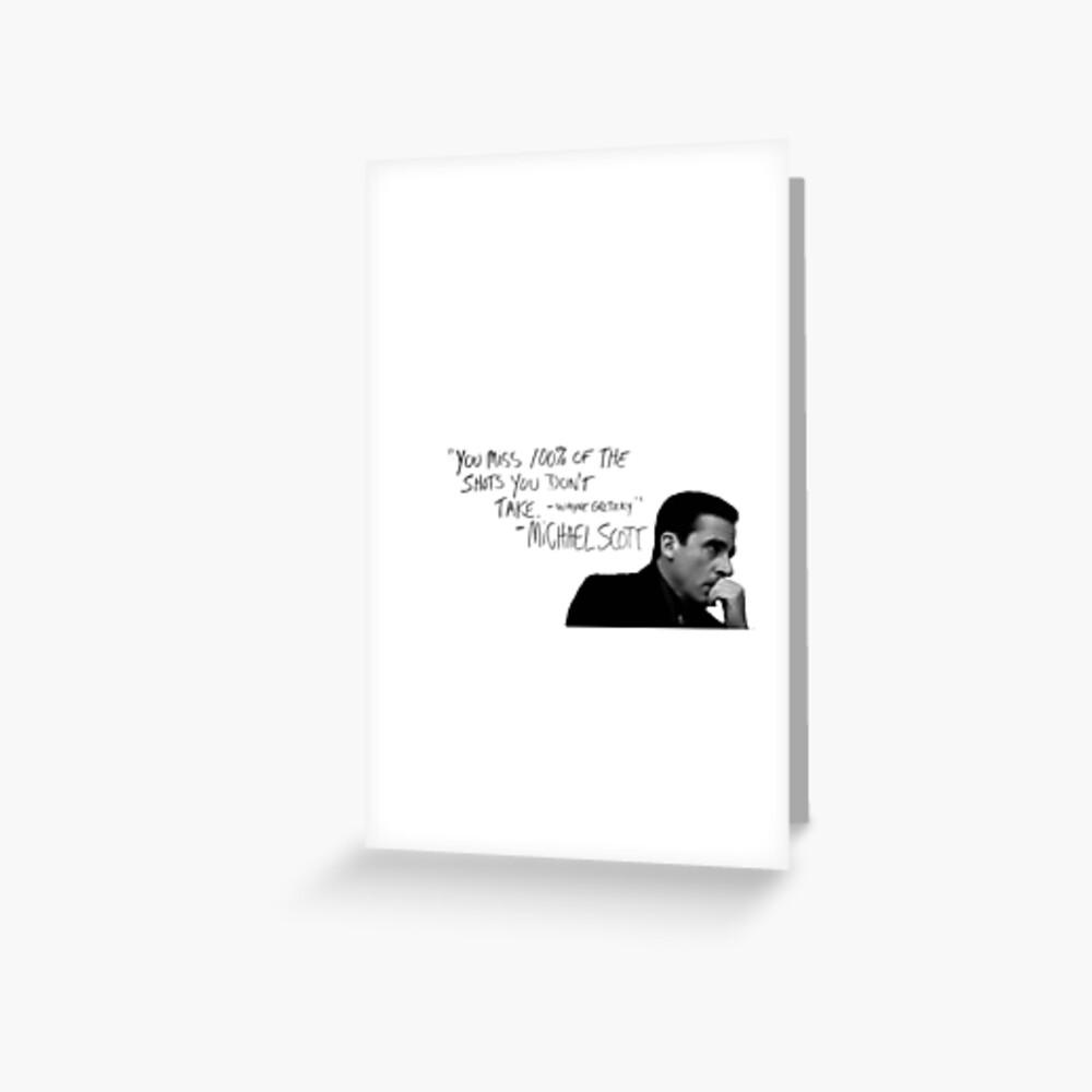 the office michael scott  Greeting Card