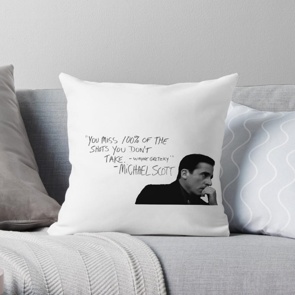 the office michael scott  Throw Pillow