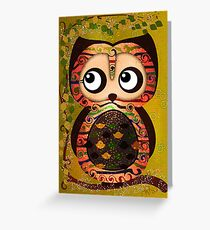 Owl On A Branch Symbolism Greeting Card