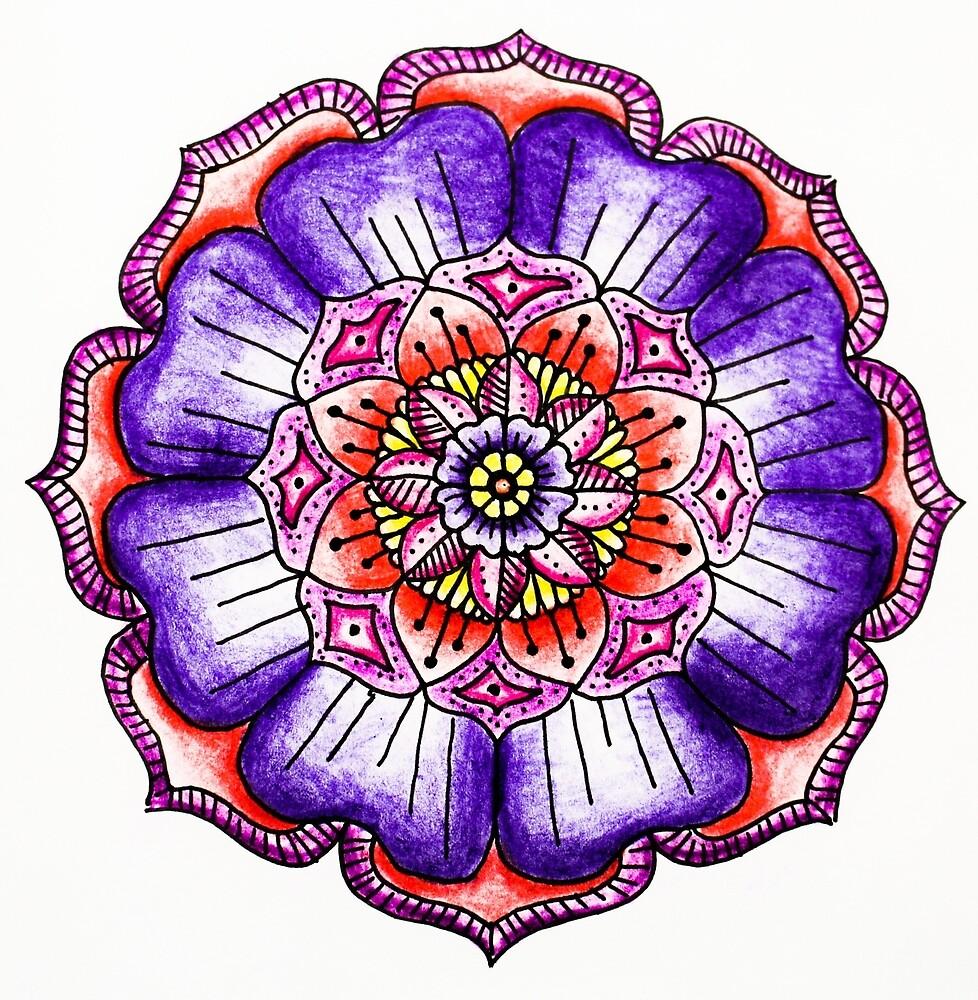 Purple/Pink Mandala Design by art-and-soul