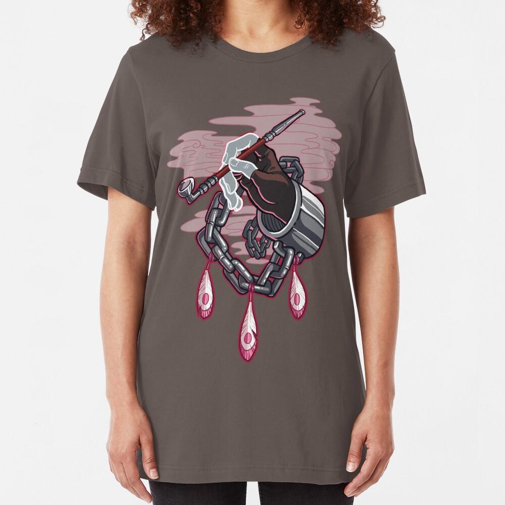 I won't let the devil take you. (no text) Slim Fit T-Shirt
