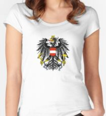 Austria Coat of Arms  Women's Fitted Scoop T-Shirt