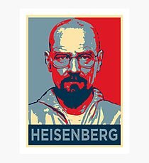 Walter White a.k.a. Heisenberg Photographic Print
