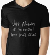 Joss Whedon - Trust Issues Men's V-Neck T-Shirt
