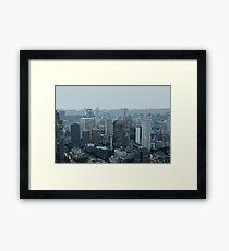 illustrated cityscape Framed Print