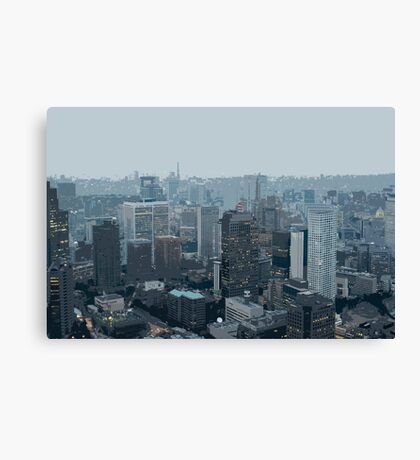 illustrated cityscape Canvas Print