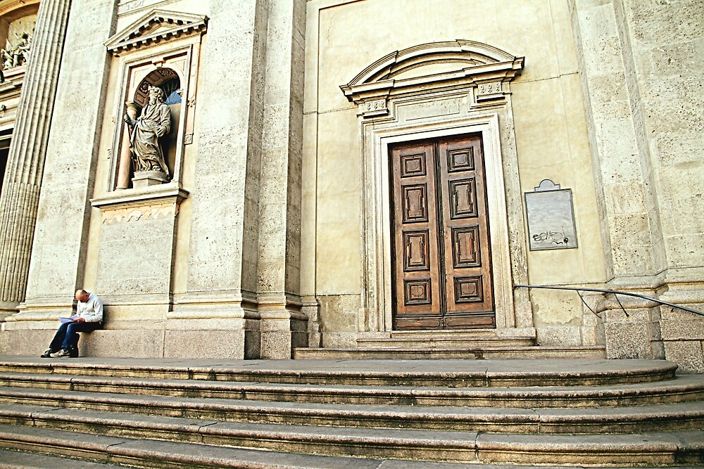 Outside the Church by Valentino Visentini