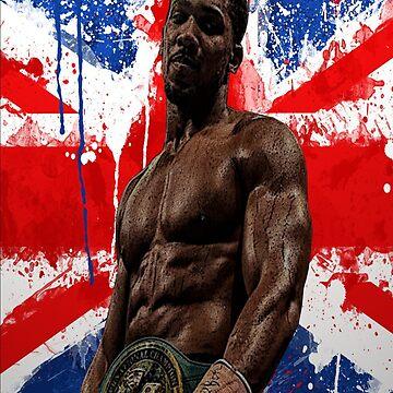 Anthony Joshua Boxing British Flag Rectangle  by RighteousOnix